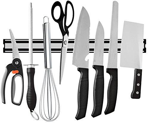 Ouddy 15 Inch Magnetic Knife Bar Aluminum Magnetic Knife Holder Magnetic Knife Strip Knife Rack Strip
