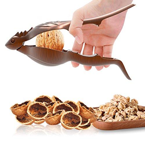 SELEWARE Innovative Universal Heavy Duty Lizard Nut Cracker Pecan Walnut Plier Opener Tool with Non-slip Handle Bronze