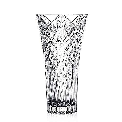 JASVIC Vase 12 Fashion Vases Lead-Free Crystal Glass Vase Flower Inserted European Transparent Vases for Decor Living Room;Dining Table Decoration