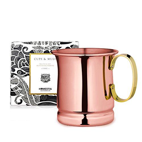 Homestia Handmade Tankard Beer Mug Stainless Steel Cocktail Beer Drinking Mug Beverage Stein 1285oz Pack of 1 Rose