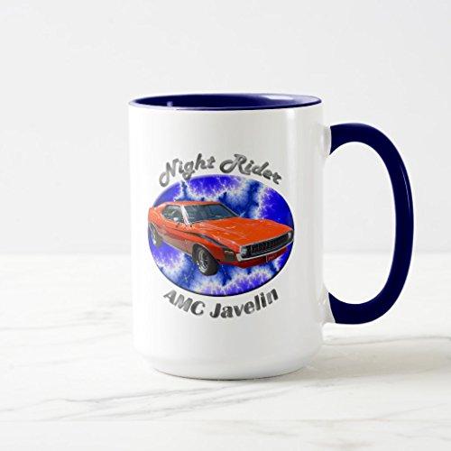 Zazzle Amc Javelin Frosted Beer Mug Navy Blue Combo Mug 15 oz
