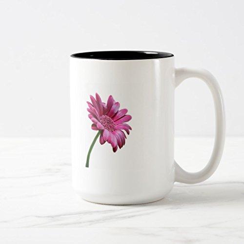 Zazzle Gerbera Daisy Frosted Beer Mug Black Two-Tone Mug 15 oz