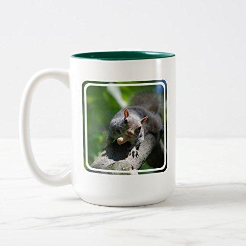 Zazzle Nutty Squirrel Frosted Beer Mug Hunter Green Two-Tone Mug 15 oz