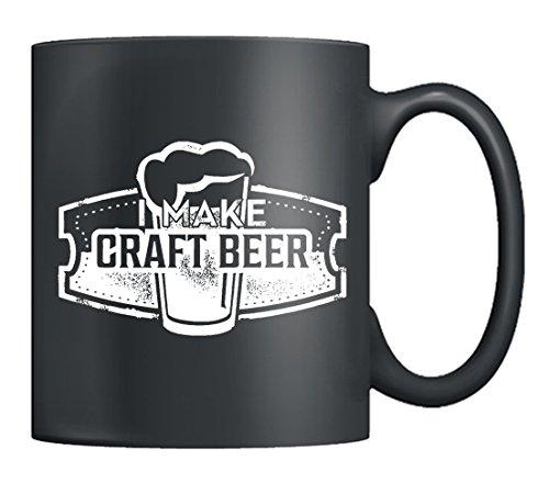 Craft Beer Coffee Mug - I Make Craft Beer Mug Ceramic Tea Cup Black 11Oz Perfect Gifts For Friends Black