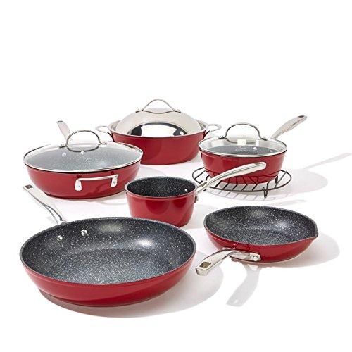 Curtis Stone Dura-Pan Nonstick 10-piece Chefs Cookware Set