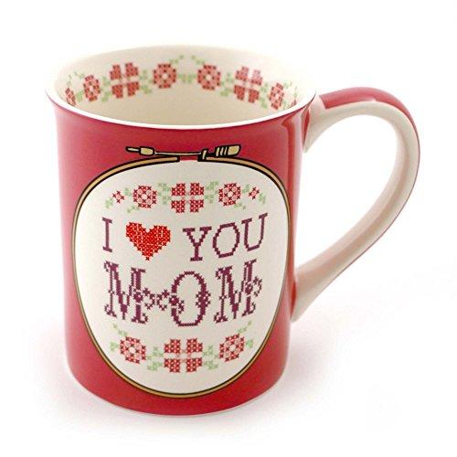 Our Name is Mud Cross Stitch Mom Stoneware Coffee Mug 16 oz