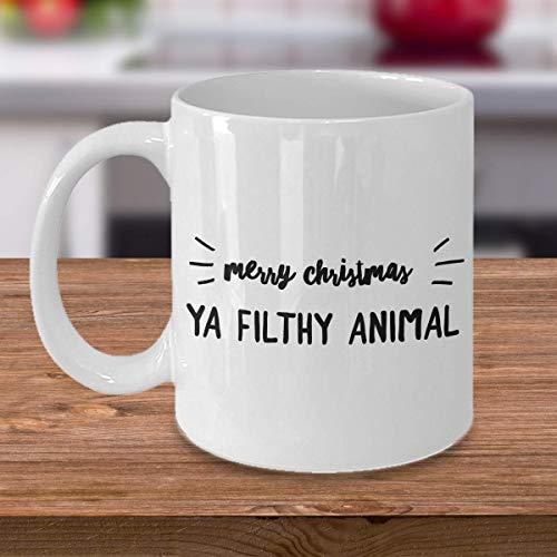 Merry Christmas Ya Filthy Animal 11oz Fancy Coffee Mug