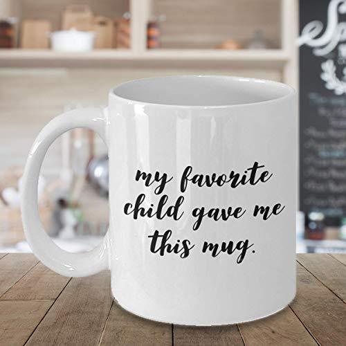My favorite child gave me this mug 11oz Fancy Coffee Mug USA Spelling