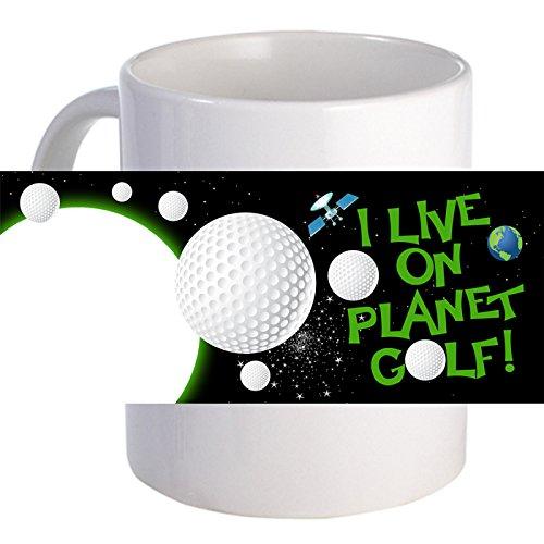 PersonalizedI Live on Planet Golf Beautiful Decorative Coffee Mug
