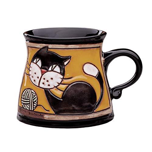 Unique Pottery Mug Handmade Funny Ceramic Mug with Hand Painted Decorative Coffee Mug Pottery Animal Mug 53