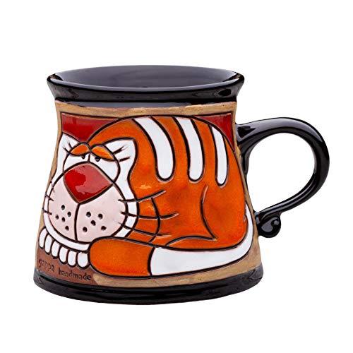 Unique Pottery Mug Handmade Funny Ceramic Mug with Hand Painted Decorative Coffee Mug Pottery Animal Mug 60