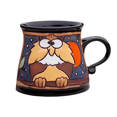Unique Pottery Mug Handmade Funny Ceramic Mug with Hand Painted Decorative Coffee Mug Pottery Animal Mug 64