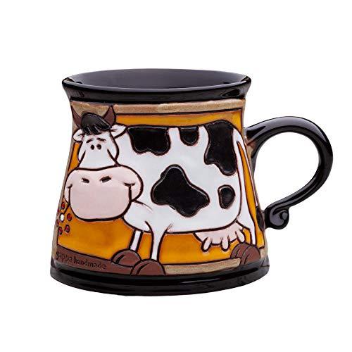 Unique Pottery Mug Handmade Funny Ceramic Mug with Hand Painted Decorative Coffee Mug Pottery Animal Mug 67