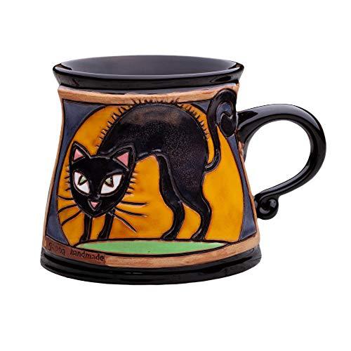 Unique Pottery Mug Handmade Funny Ceramic Mug with Hand Painted Decorative Coffee Mug Pottery Animal Mug 75