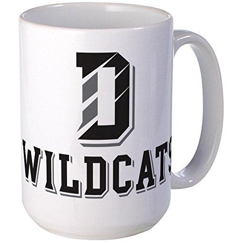 CafePress - Davidson Logo Black Grey - Coffee Mug Large 15 oz White Coffee Cup