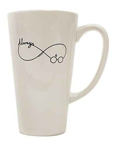 TooLoud Always Infinity Symbol 16 Ounce Conical Latte Coffee Mug