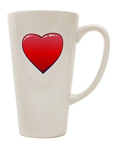 TooLoud Cute Cartoon Heart 16 Ounce Conical Latte Coffee Mug