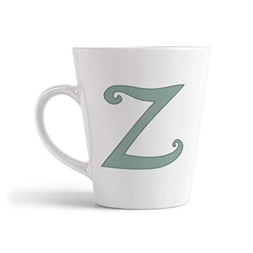 Ceramic Custom Latte Coffee Mug Cup Letter Z Alphabet Monograms Tea Cup 12 Oz Design Only