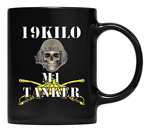 Army M1 Tanker MOS 19K- Abrams Crewman Skull version T-Mug