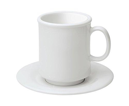 GET Enterprises 8 oz White Stacking Mug Break Resistant Cups Mugs by GET TM-1308-W-EC Pack of 4