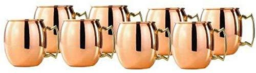 HandicraftworldArt New Solid Copper Moscow pper Old Dutch w Mul Mule Shot Mugs t Mug 2-Ounce Solid t of Set of 8
