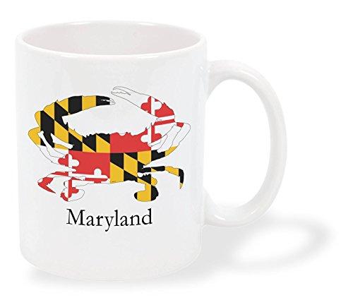Maryland Crab Flag Imprinted Coffee Mug