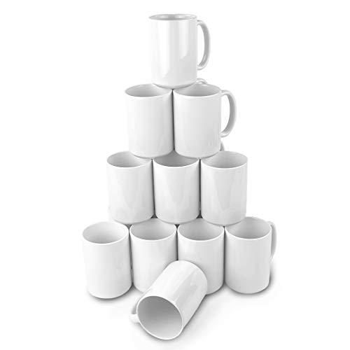 15oz Ceramic Sublimation Blank Mugs 36 Case