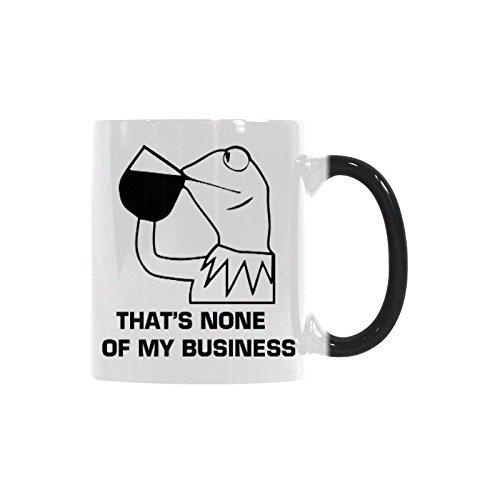 Thats None Of My Business Coffee Mug Morphing Mugs Ceramic Material Mugs Tea Cup White 11oz