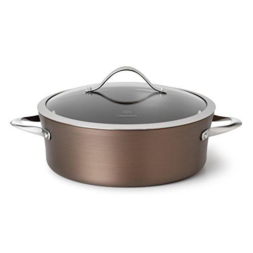 Calphalon Contemporary Hard-Anodized Aluminum Nonstick Cookware Dutch Oven 5-quart Bronze