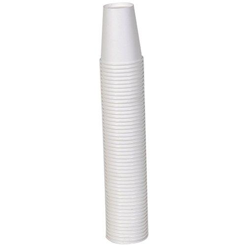 50 8oz White Paper Cups