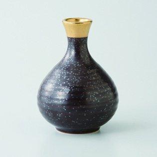 Japanese porcelain Hasami ware Set of 3 kessho gold 2go tokkuri sake bottles hsm-J39-23040