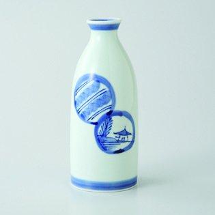 Japanese porcelain Hasami ware Set of 3 marumon sansui 2go tokkuri sake bottles hsm-J39-64010