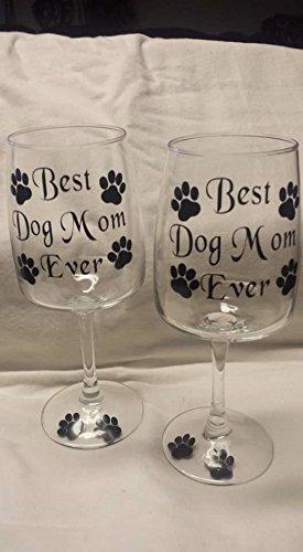 Best Dog Mom Ever Harmony Goblet Wine Glass-