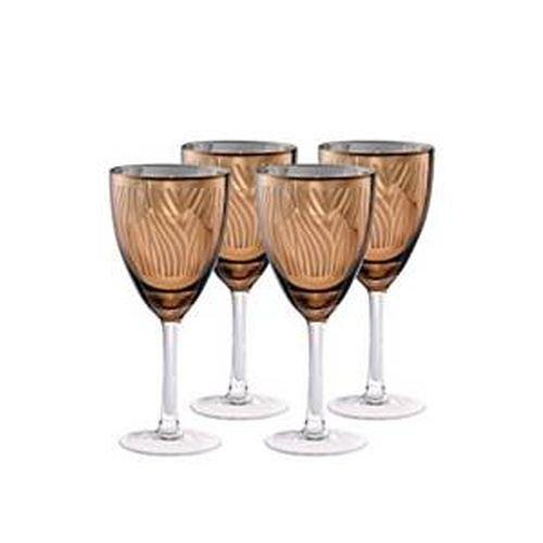 Artland 51173B Zebra Gold Wine Glass 14 oz Gold