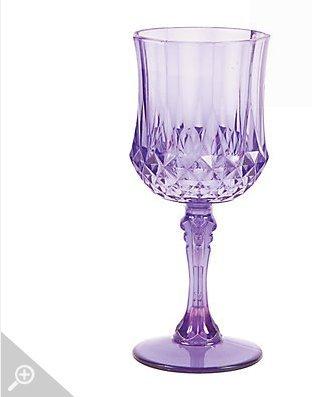 Purple Patterned Wine Glasses
