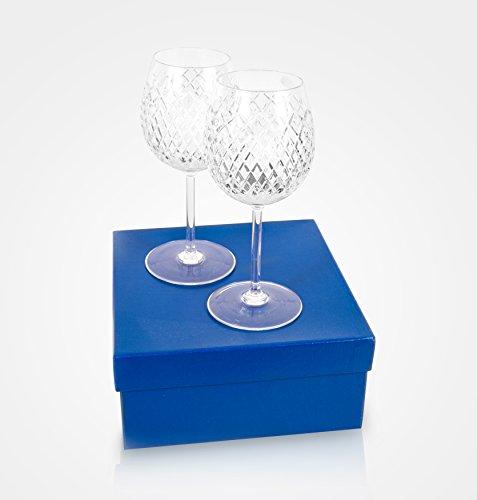 Crystal wine goblets Set of 2 pcs 600 ml  20 oz handmade glasses