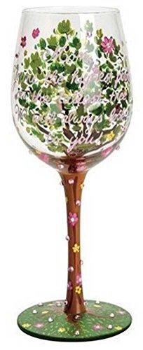 Lolita from Enesco Mom Stands Tall Wine Glass 9 Multicolor
