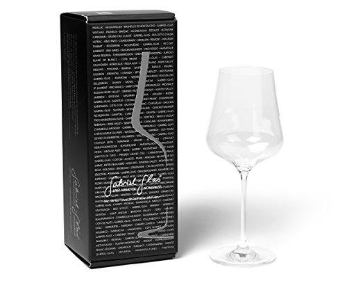 Gabriel Glas - Mouth Blown Austrian Crystal Wine Glass  Gold Edition  Single 1