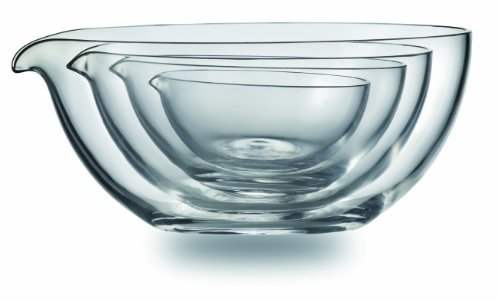 Jenaer Glas Concept Storage Collection Assorted Glass Nesting Prep Bowls Set of 4