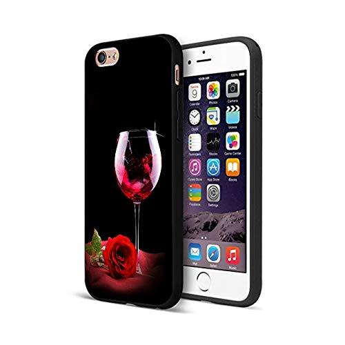 Black Merlot Red Wine iPhone 7 Case Wine Glass 8 Cover Rose Drink Enthusiast Lover Alcohol Beverage Fancy Elegant TPU