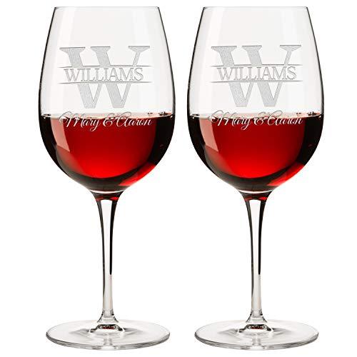 Personalized Set of 2 Wine Glass DESIGN-7 WINE GLASS