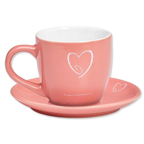Phokis Timeless Faith Pink Tea Cup and Saucer Set