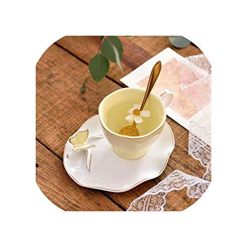 Christmas Glass Tea Cup Set Ceramic Coffee Cup Reusable Espresso Cups Cappuccino Saucer Tazas De Ceramica Porcelain Home220mlstyle2
