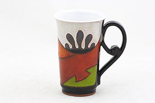 Ceramic Coffee Mug Pottery Tea Cup 118 oz Handmade Coffee Cup Coffee Tea party Unique stoneware mug- 350 ml Artisan cup