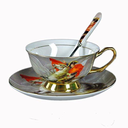 Choholete Bone China Coffee Tea Cup Set Napoleon Louis Bonaparte 1 Cup 1 Saucer 1 Spoon
