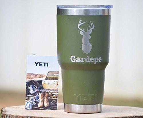Deer Head Yeti Tumbler - Engraved Yeti Rambler - 20 oz Yeti - 30 oz Yeti - Personalized Yeti – Deer Mount Gift - Laser Engraved Yeti - Yeti Tumbler - Yeti Cup – Browning Head Yeti
