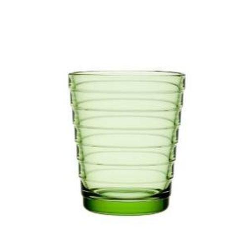 Iittala Aino Aalto 11-Ounce Apple Green Tumbler Set of 2