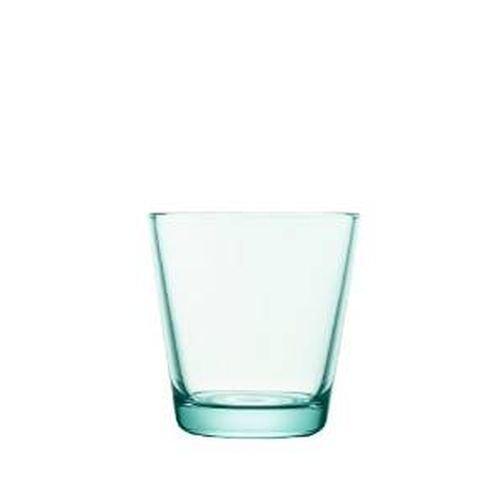 Iittala Kartio Set of Two Glass Tumblers Water Green 7-Ounce Capacity