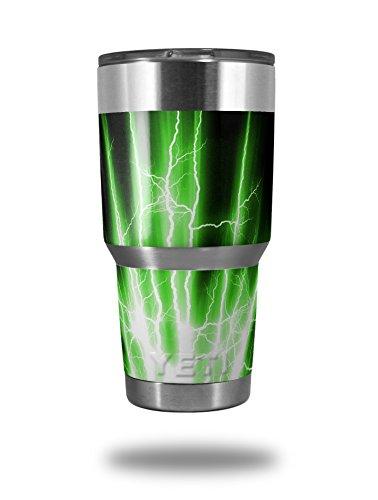 Skin Decal Wrap for Yeti Tumbler Rambler 30 oz Lightning Green TUMBLER NOT INCLUDED
