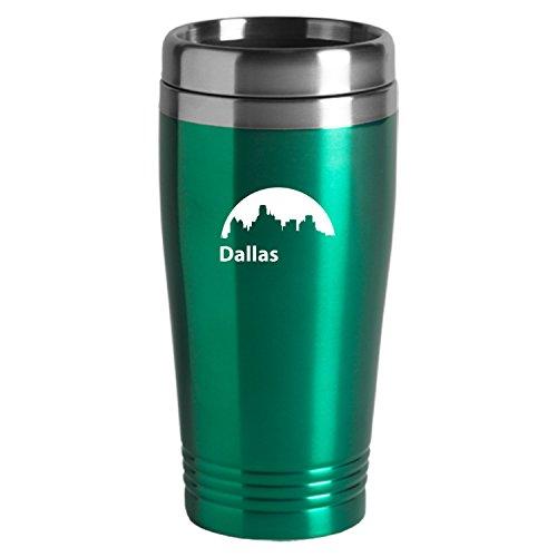 Dallas Texas-Travel Mug Tumbler-Green
